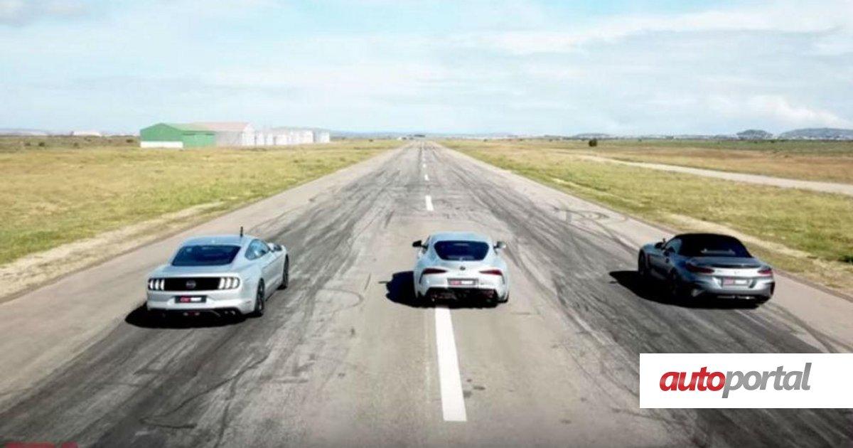 Vídeo: Toyota Supra é posto à prova com BMW Z4 e Ford Mustang GT | AUTOPORTAL