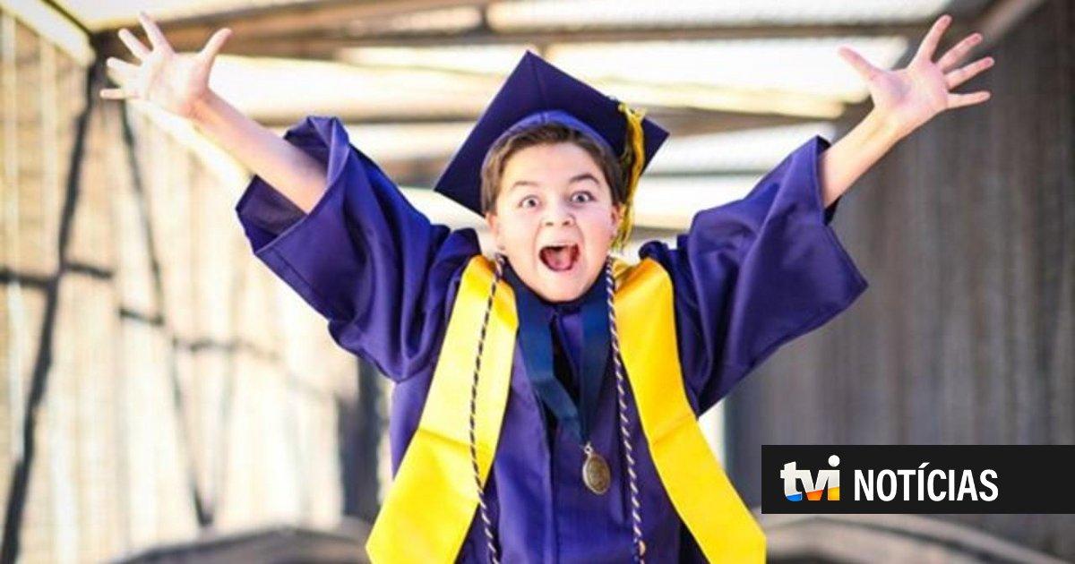 Jack Rico tem 13 anos e acaba de completar o seu quarto curso superior | TVI24