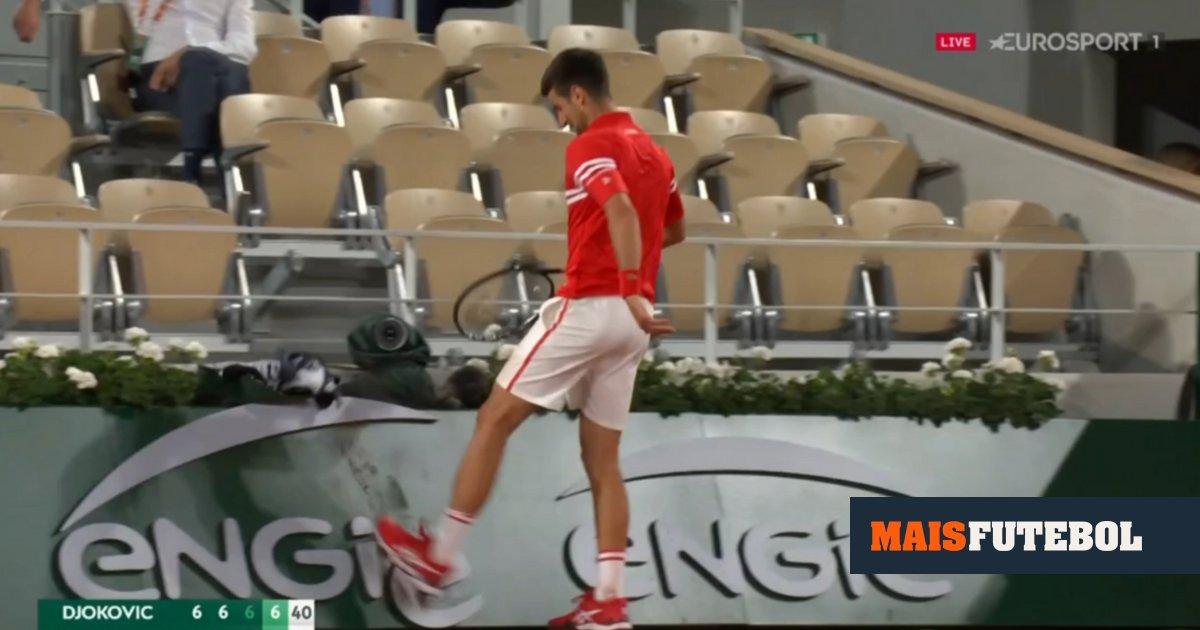 Photo of VÍDEO: o pontapé de Djokovic no painel e o grito de fúria no fim | MAISFUTEBOL | Redação Maisfutebol