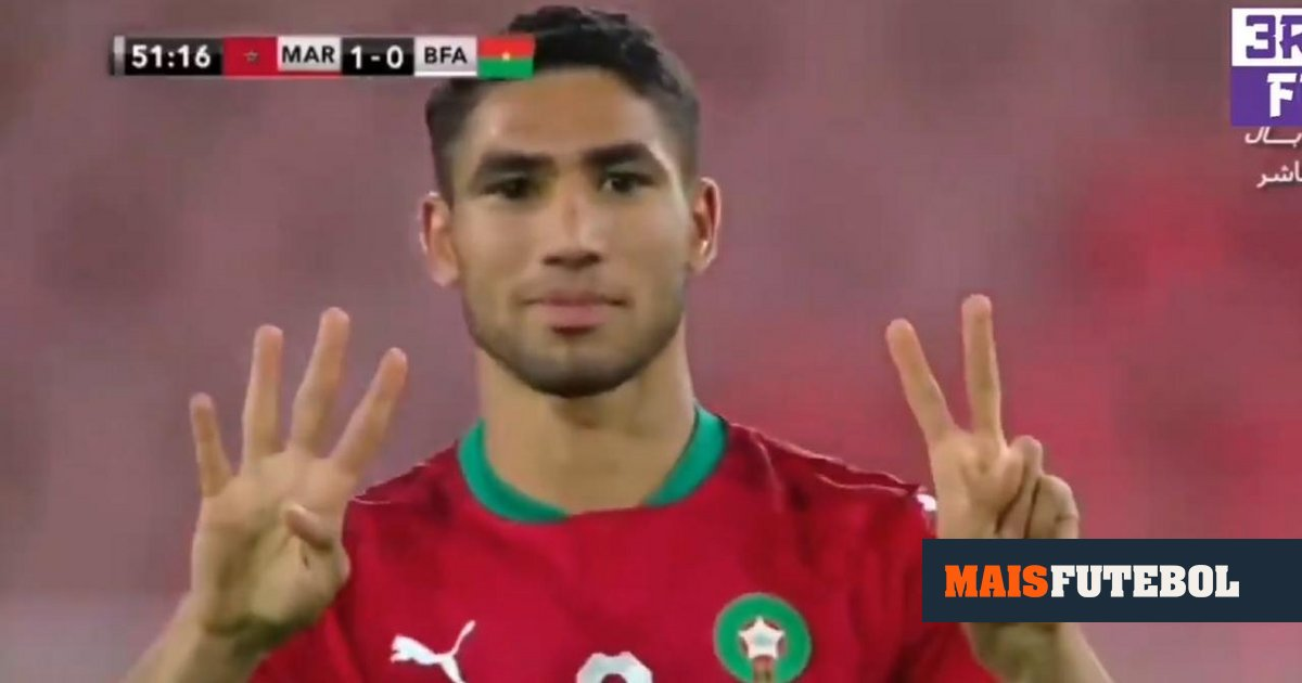 VIDEO: Hakimi scores great for Morocco and dedicates to Eriksen
